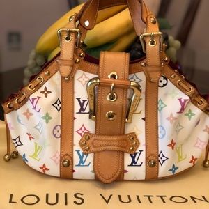 💯 Louis Vuitton Limited Ed Multicolored Theda GM